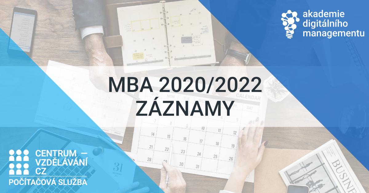 Akademie digitálního managementu - studium MBA 2020/2022