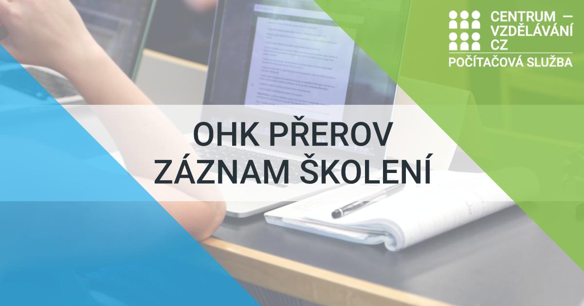 OHK Přerov - Záznamy školení